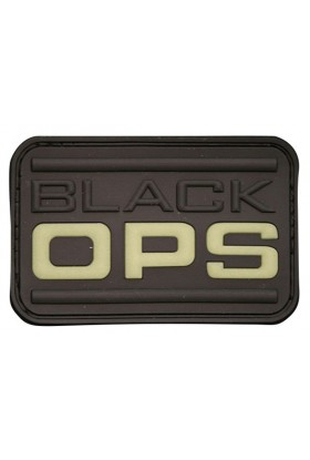 Patch 3D gomme souple Black OPS 70 x 45 mm