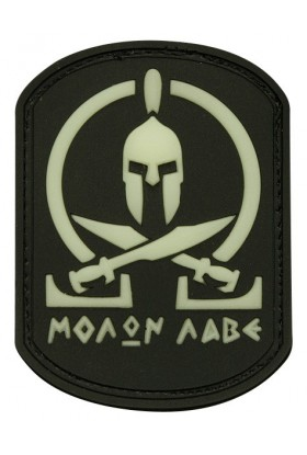 Patch 3D gomme souple Spartan molon labé 55 x 70 mm