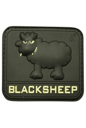 Patch 3D gomme souple Black sheep GM 55 x 55 mm