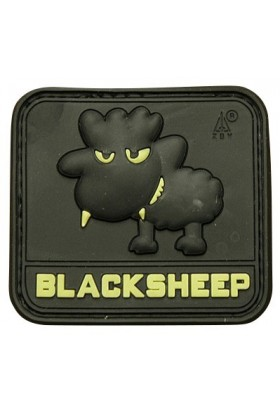 Patch 3D gomme souple Black sheep PM 45 x 41 mm