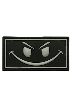 Patch 3D gomme souple Smiley 50 x 30 mm