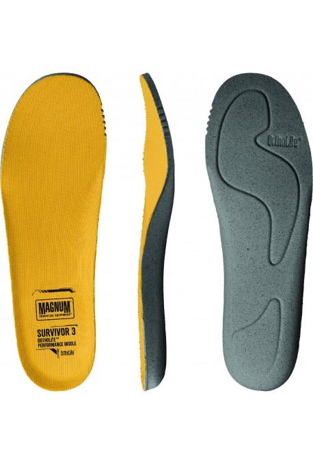 Semelles ORTHOLITE SURVIVOR 3 pour chaussures/rangers Magnum