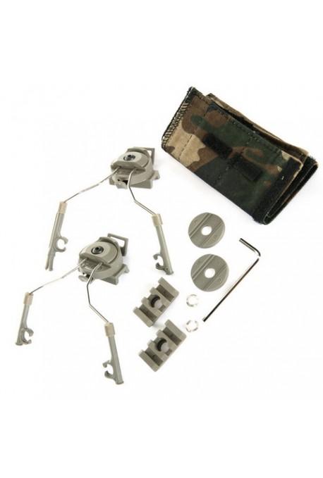 kit adaptateur anti bruit pour rail de casque