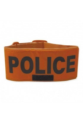 BRASSARD FLUO ORANGE POLICE