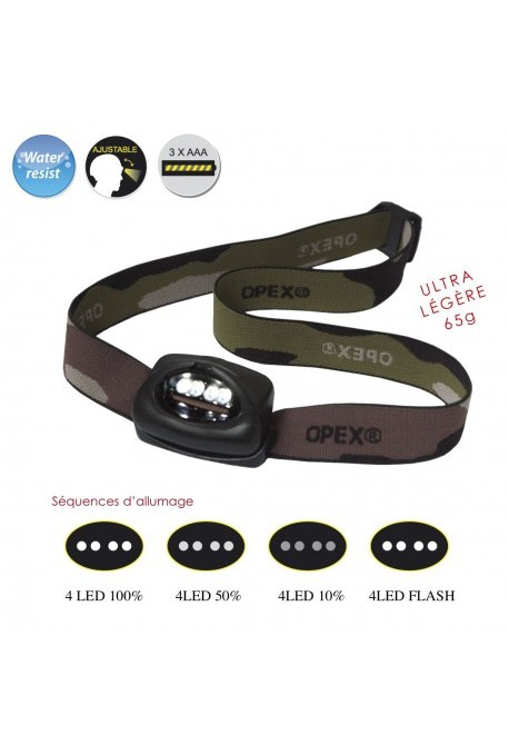 Lampe frontale OPEX 4 CREE LEDS