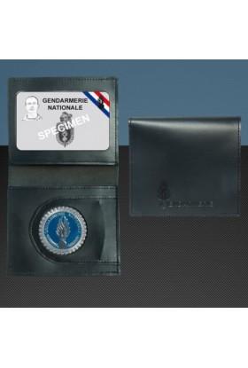 Porte-carte format CB Médaille Gendarme + Gravure