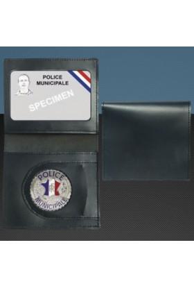 Porte-carte format CB Médaille Police Municipale + Portefeuille