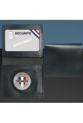 Porte-carte format CB Médaille Sécurité + Portefeuille