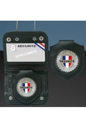 Porte-carte Chaîne + Médaille Sécurité