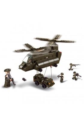 Hélicoptère CH-47 CHINOOK + Jeep M38-B6600 SLUBAN