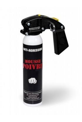 Aérosol lacrymogène anti-agression Mousse poivre 300ml