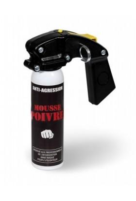 Aérosol lacrymogène anti-agression Mousse poivre 100ml