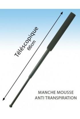 Baton télescopique manche mousse anti transpiration